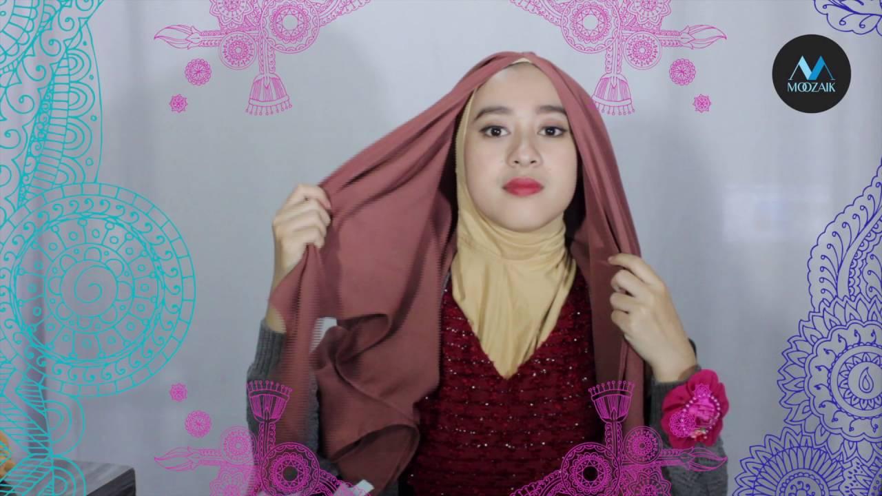 Tutorial Hijab Moozaik Wolfis YouTube