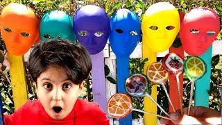 Sado, Ali Keremiko'nun şekerlerini aldı ! Learn Colors with Fruit Candies and Finger Family Song