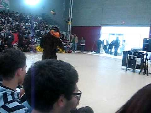 "Marco Antonio Firebaugh High School Mascot does the ""JERK"""