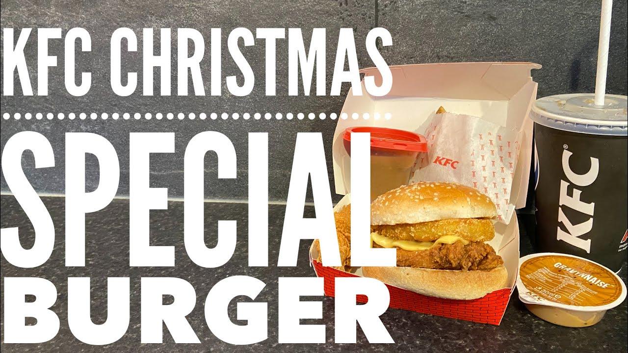 Kfc Gravy Burger Box Meal Kfc Christmas Special Youtube