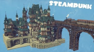 【Minecraft】スチームパンクな街を作ってみたよ【MiniaTuria …