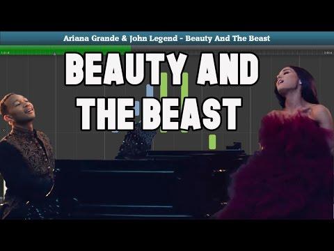 Beauty And The Beast Theme (Ariana Grande & John Legend) Piano Tutorial - Free Sheet Music