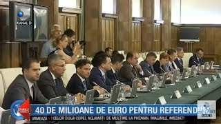 Stirile Kanal D (18.09.2018) - 40 de milioane de euro pentru referendum! Editie COMPLETA