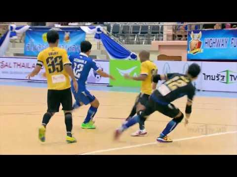 ไฮไลท์ | กรมทางหลวง แพ้ บางกอกซิตี้ 6-8 | 09-10-59 | AIS Futsal Thailand League 2016 Leg 2