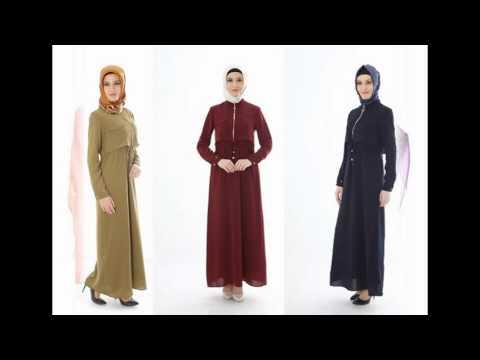 b039ea21b ملابس محجبات تركية، احدث تونيكات محجبات طويلة 2016 - YouTube