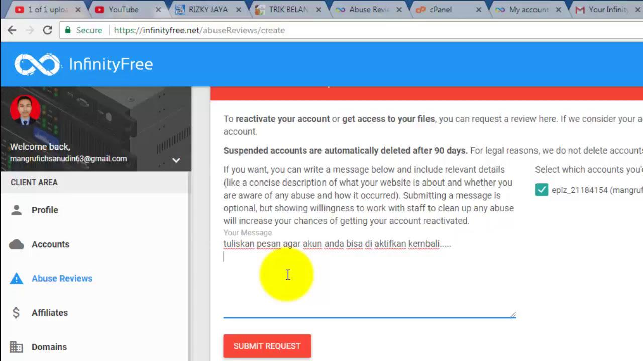 Cara mengatasi website suspended atau ditangguhkan - YouTube