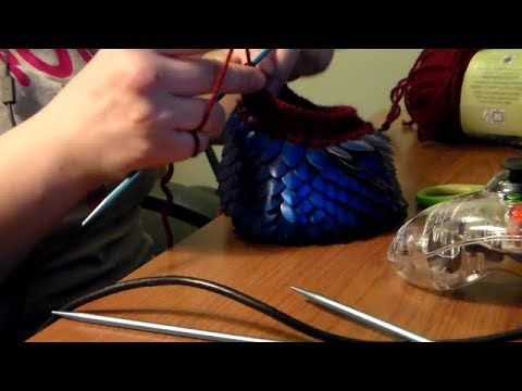 scalemail dice bag with