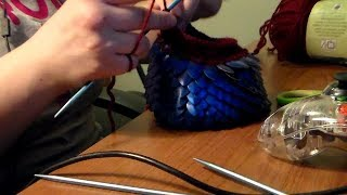the process of making dragon scales and leather dice bags dungeons