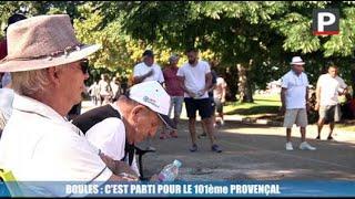 Marseille - Boules : c'est parti pour sept jours de Jeu Provençal au Parc Borély