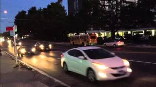 Drivers violating school bus stop law on River Road in Bethesda