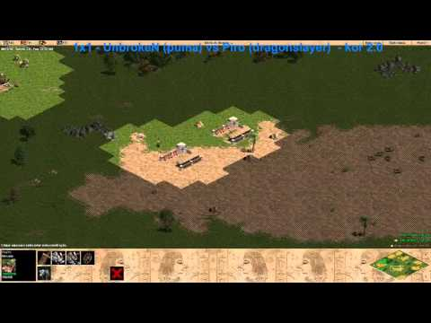 1x1 AOE KOR 2.0 - Unbroken (idle_puma) vs Piro (dragonslayer)Age of Empires