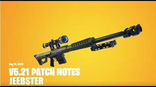 V5.21 FORTNITE Patch Notes!