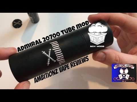 BJ Box Mods ADMIRAL Tube Mod 20700/18650 Review & Breakdown