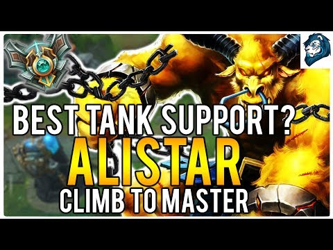 BEST TANK SUPPORT? ALISTAR - Climb to Master | League of Legends