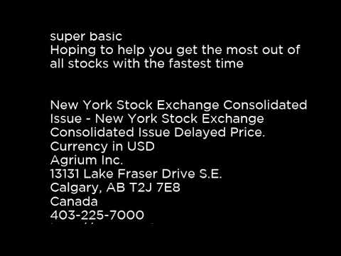 AGU - Agrium Inc.  AGU buy or sell? Buffett read basic profile