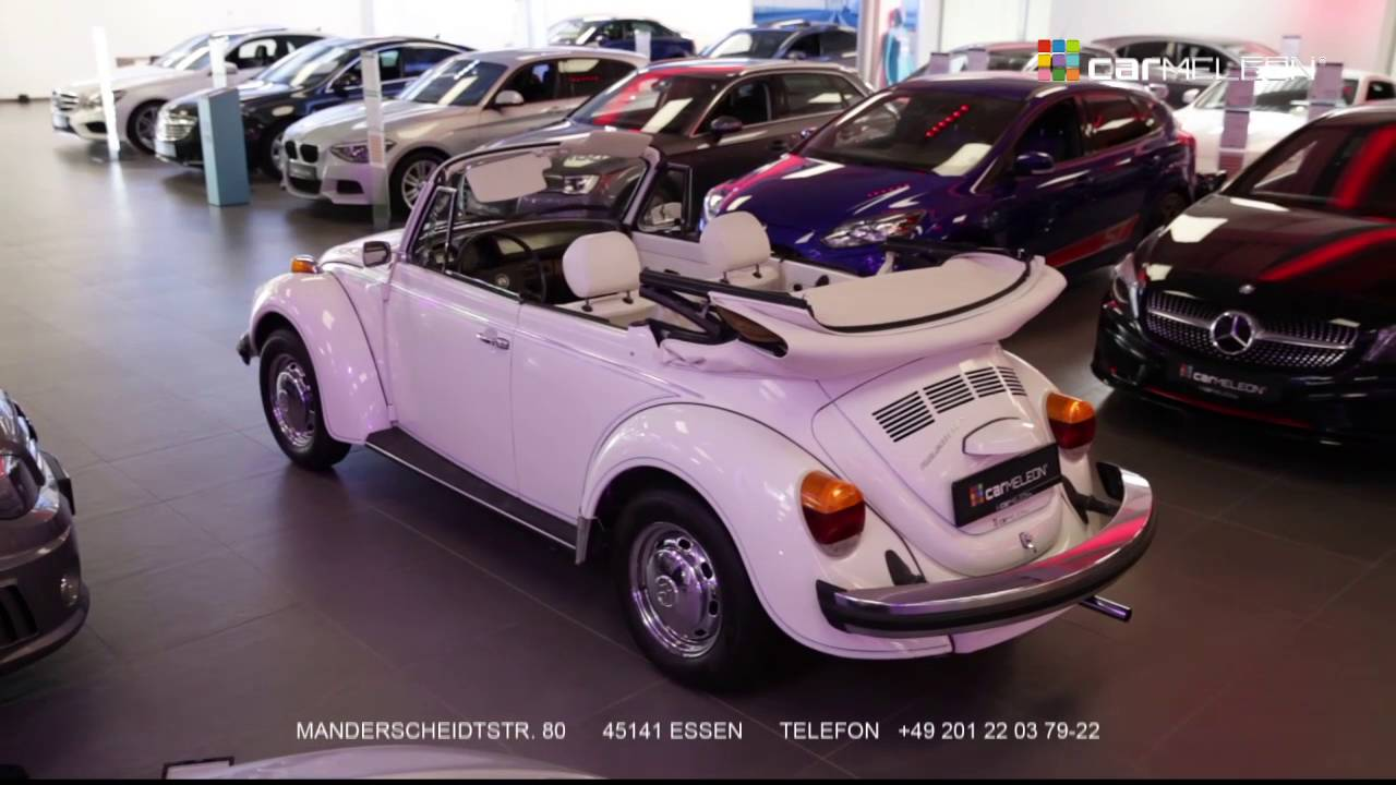 vw 1303 cabrio white bug youtube. Black Bedroom Furniture Sets. Home Design Ideas