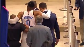 Russell Westbrook SCARY INJURY, Screaming In Pain After Twisting Ankle!
