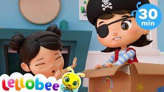 Dress Up (Princesses, Pirates, and Planes) | @Lellobee City Farm - Cartoons & Kids Songs | Education