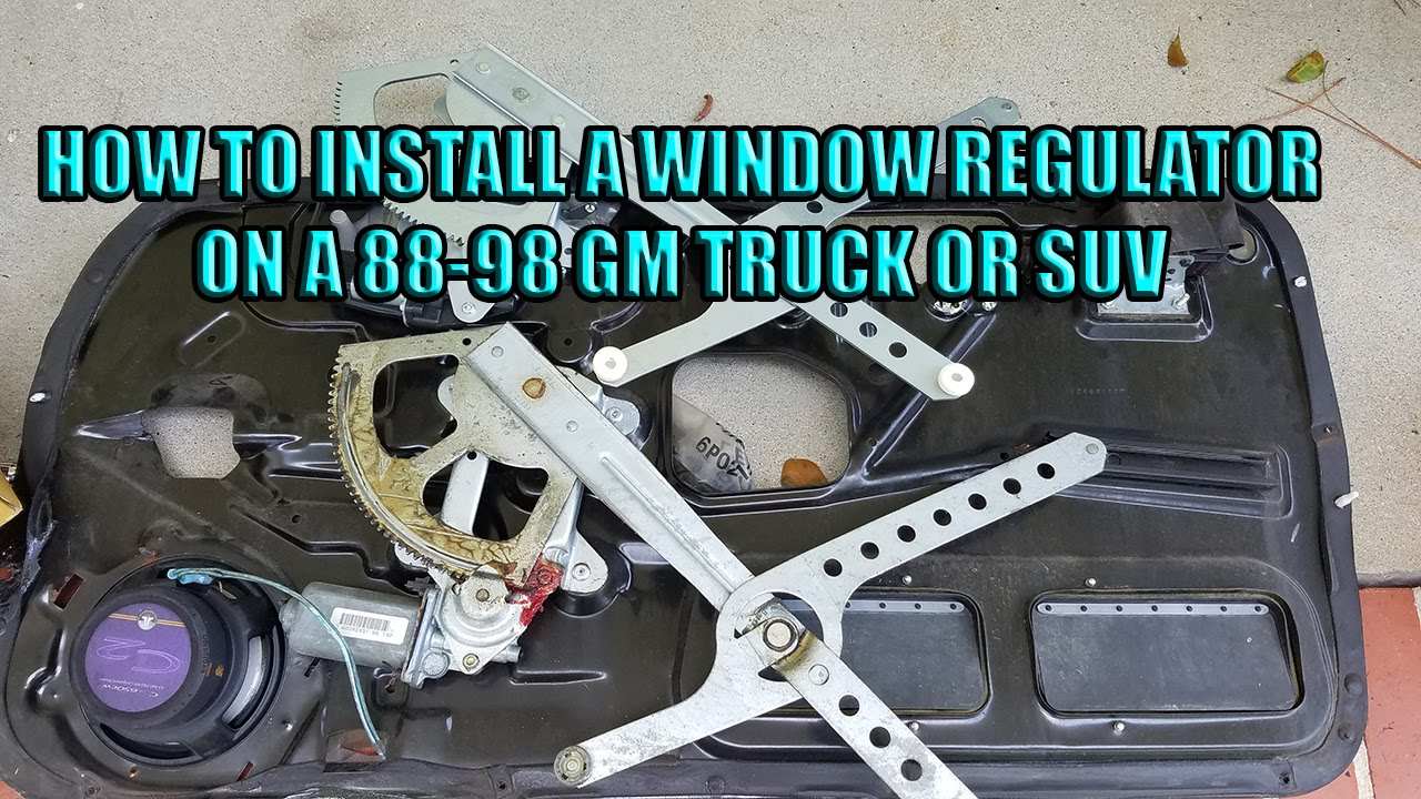 maxresdefault how to install a window regulator on 88 98 gm trucks and suvs gm window regulator replacement at soozxer.org