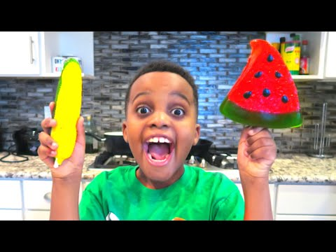 Thumbnail: GUMMY FOOD vs REAL FOOD CHALLENGE PART 2!