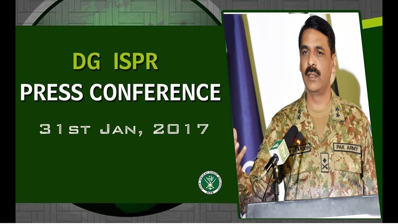 DG ISPR Press Conference, 31st January, 2017 (ISPR Official)
