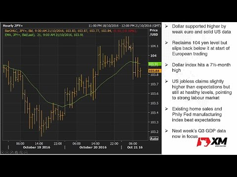 Forex News: 21/10/2016 - Euro slides after ECB; pushes up dollar to 7½-month high