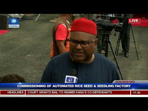 President Buhari Commissions Rice Seedling Factory In Calabar Pt.5