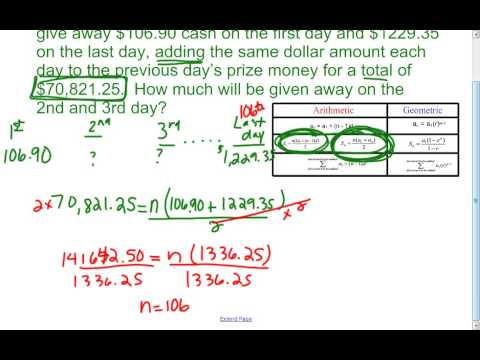 Sequences and Series (Arithmetic and Geometric) - Room 229