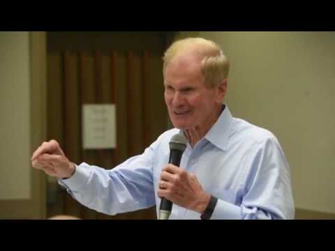 U.S. Sen. Bill Nelson talks about BRAC (Base Realignment And Closure) Monday to a group of business