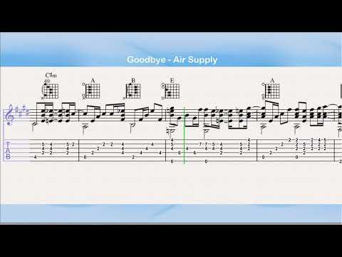 Goodbye - Air Supply (Guitar Tab)
