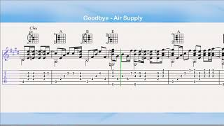 Goodbye - Air Supply (Guitar Tab)