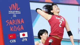 Japan - 古賀 紗理那 Sarina KOGA SUPERB SPIKES vs CHINA | 2019 FIVB VNL Week 3