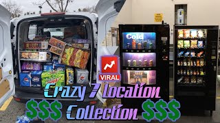 The new way of vending!!! Collecting cash from 7 vending machine locations !