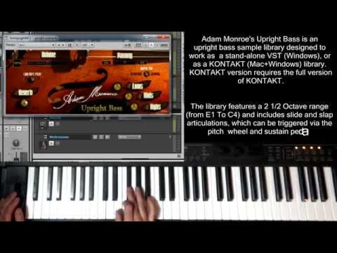 Upright Bass Sample Library VST AU Virtual Instrument Kontakt Adam Monroe Upright Bass