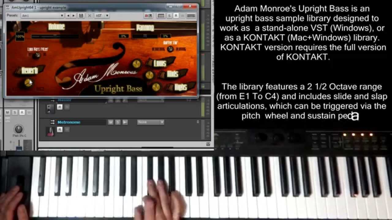 Upright Bass Sample Library VST AU Virtual Instrument Kontakt Adam Monroe  Upright Bass