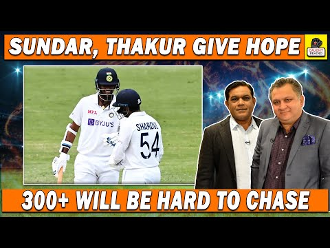 Sundar, Thakur give hope to India | 300+ will be hard to chase | Ind V Aus