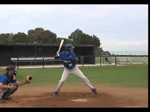 Good, Basic Hitting Form - How The Pros Hit High Line Drives - YouTube
