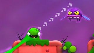 Зеленый слизнячок КАЗЮЛЬКА. Мультик игра для детей