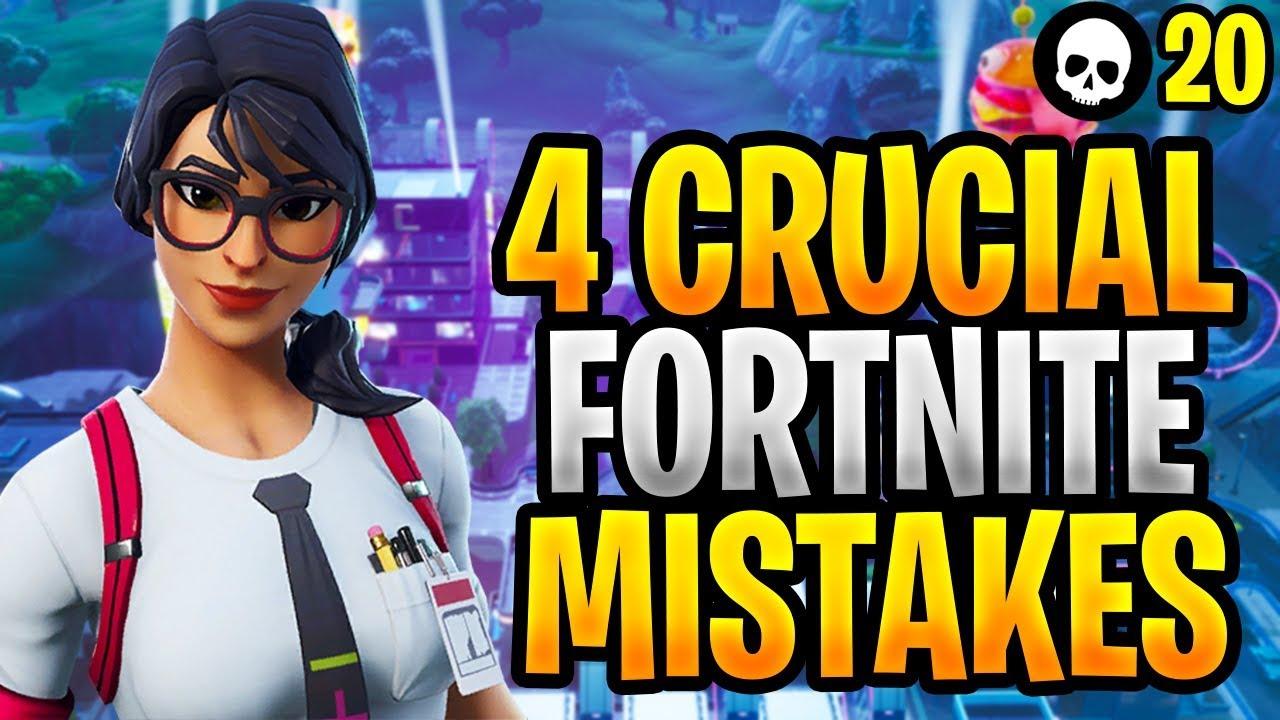 4 erros CRUCIAIS que você provavelmente está cometendo no Fortnite! (Como melhorar no Fortnite) + vídeo