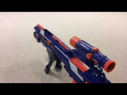 Nerf Elite Repaint Longshot Review  WARNING: Done By A Video Noob