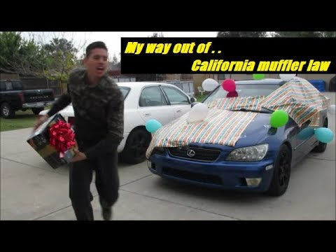 california car muffler law