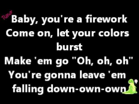 ~Katy Perry~ Firework Lyrics