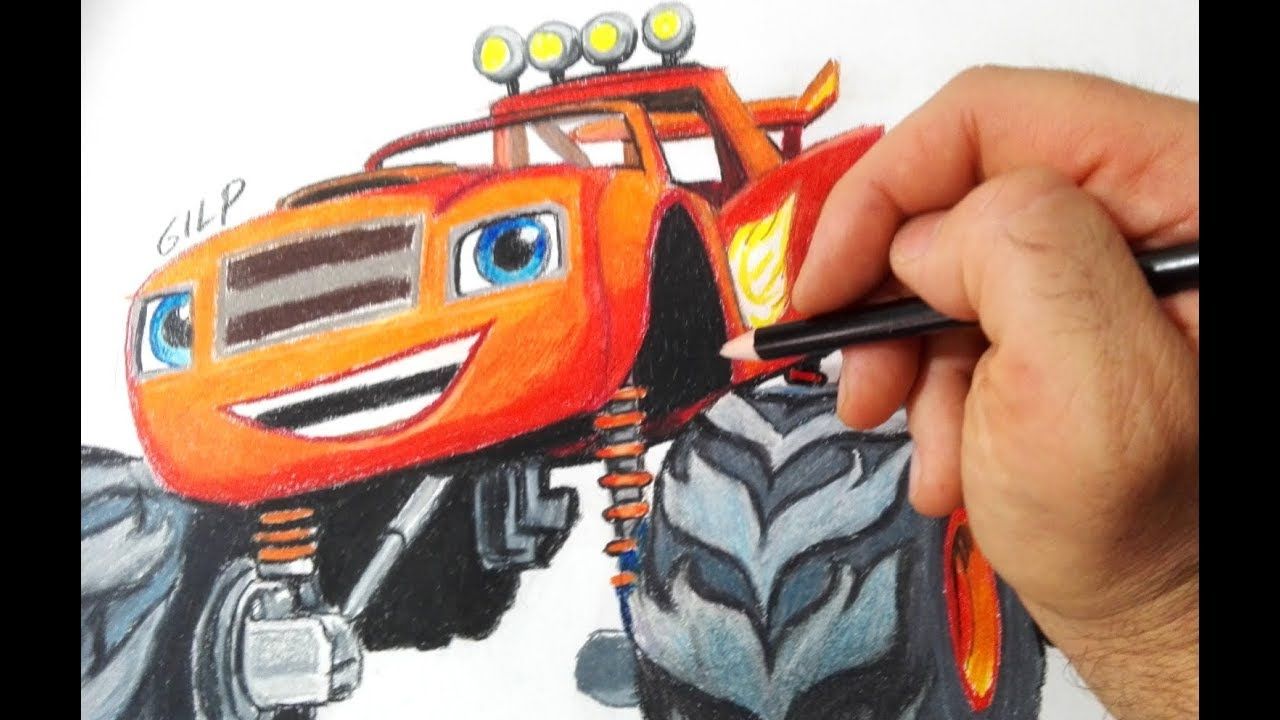 Como Dibujar Y Colorear Blaze And The Monster Machines Youtube