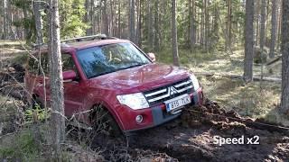 Mitsubishi Pajero 4 and Toyota Land Cruiser 100 offroad, Estonia (Part 2).