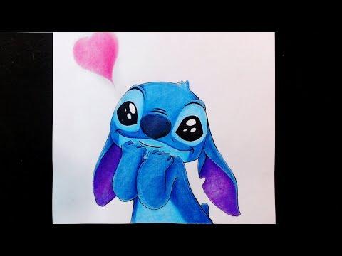 Como Dibujo A Stitch Enamorado Tierno Kawaii Esteban Arts