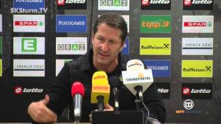 SK Sturm: Mediabriefing vor SCR Altach (21. Runde 2015/16)