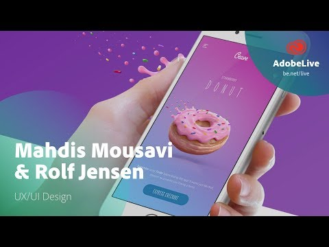 Live UX Design in Adobe XD with Mahdis Mousavi & Rolf Jensen 1/3
