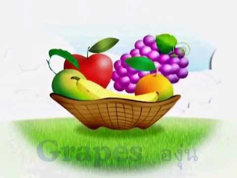 คำศัพท์อังกฤษสำหรับเด็ก  หมวดผลไม้  Fruit