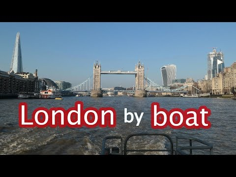Taking The London Thames Clipper Boat From Westminster To Greenwich January 2019