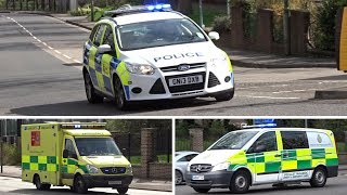 Police Car & Ambulances Responding - A Day of Emergency Vehicle Spotting #1